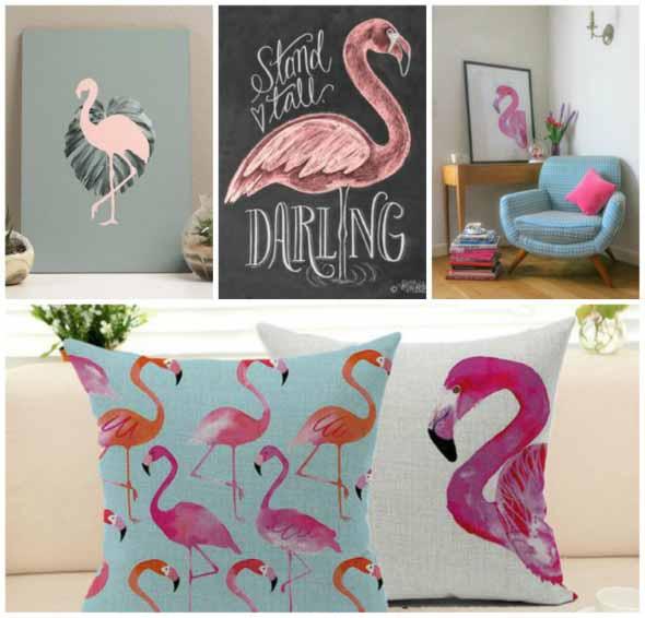 Flamingos na decoração 015