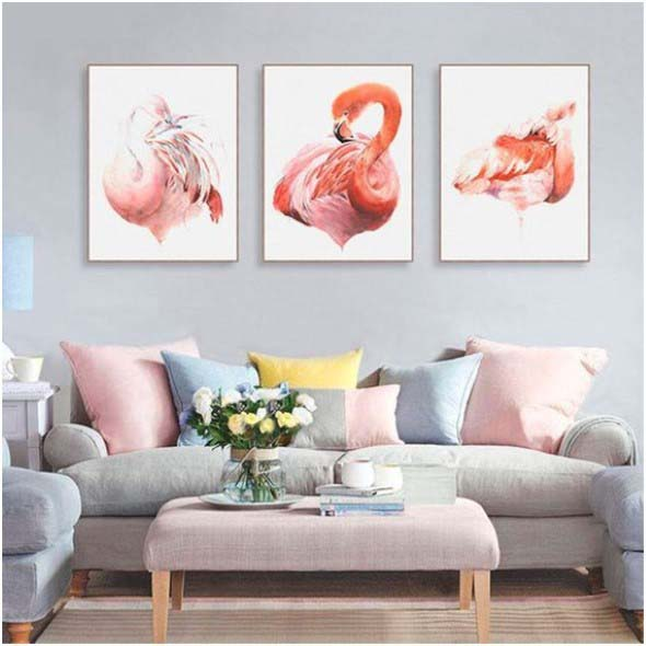Flamingos na decoração 018
