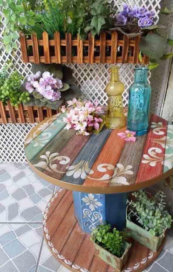 Modelos charmosos de mesas de carretéis 001
