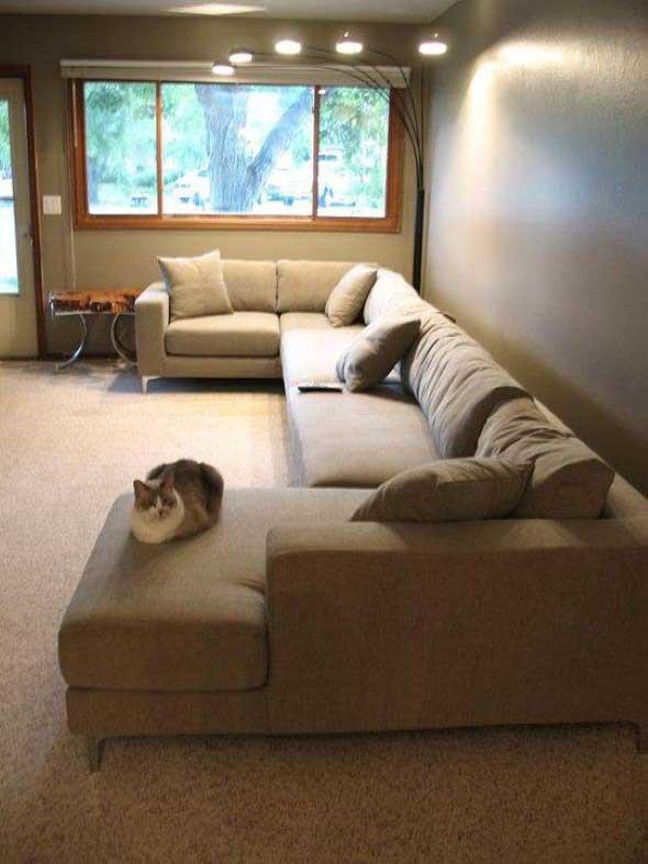 Sofá grande para sala de estar 001