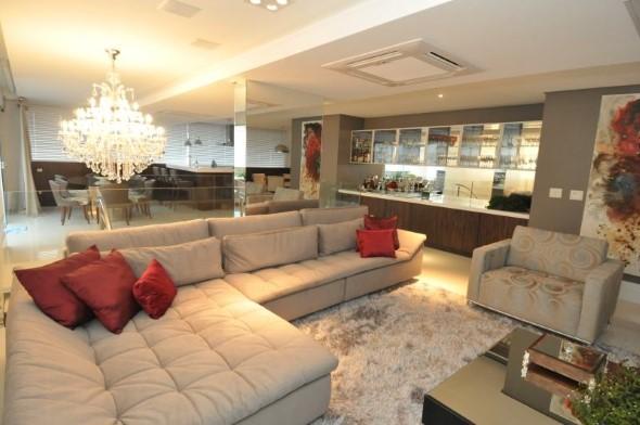 Sofá grande para sala de estar 004