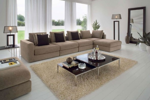 Sofá grande para sala de estar 011