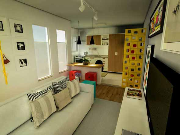 Sofá grande para sala de estar 016
