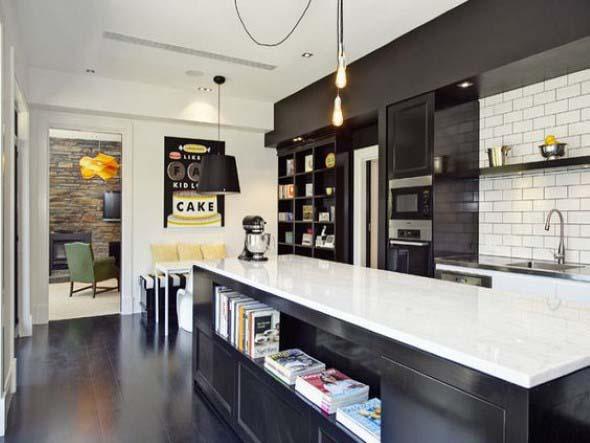 Tijolo aparente na decoração da cozinha 011
