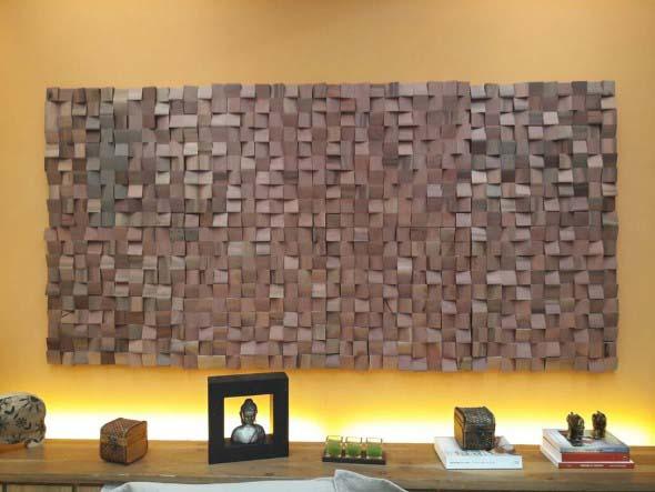 Como revestir paredes com blocos de madeira 003