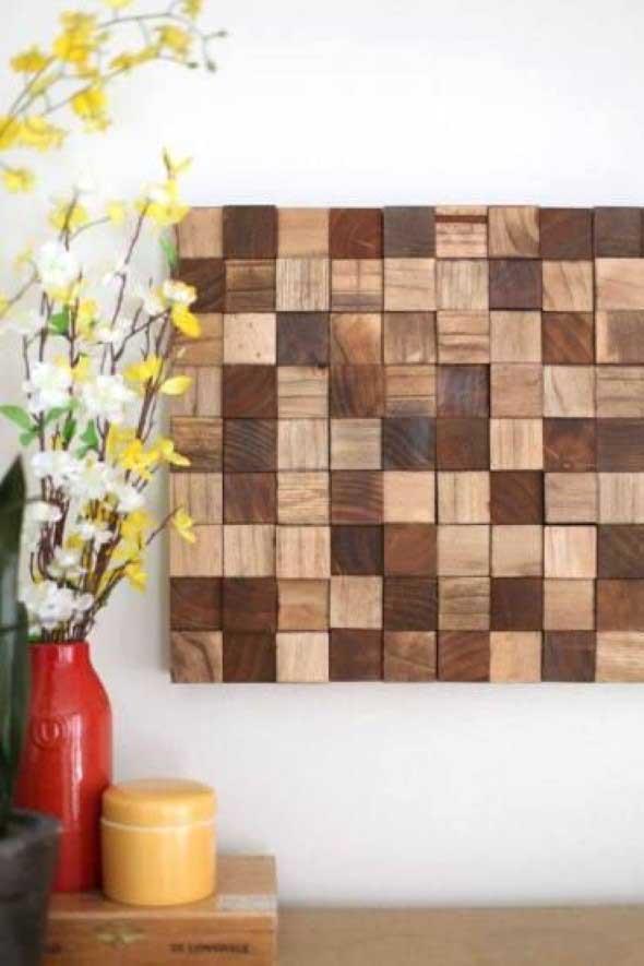 Como revestir paredes com blocos de madeira 005