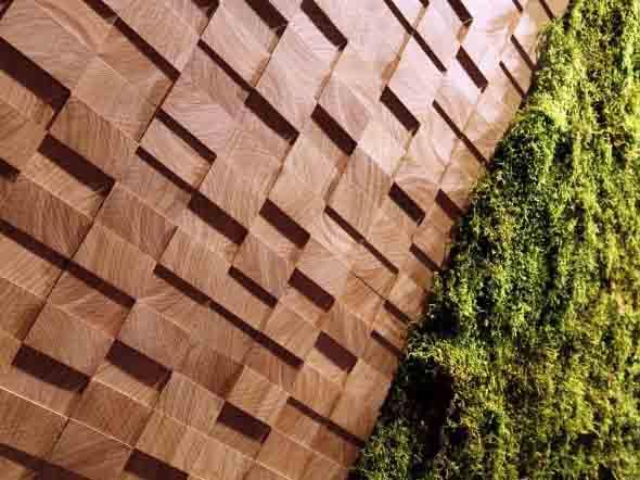 Como revestir paredes com blocos de madeira 013