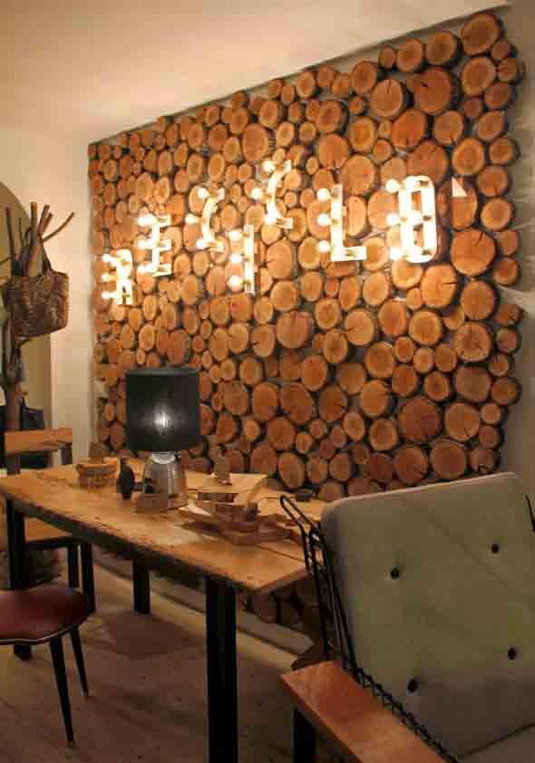 Como revestir paredes com blocos de madeira 016
