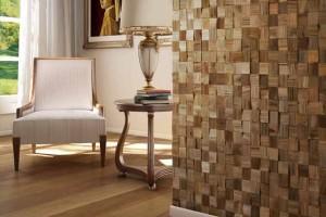 Como revestir paredes com blocos de madeira 018