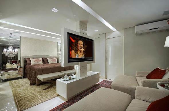 Decoração com TVs espalhadas pela casa 003