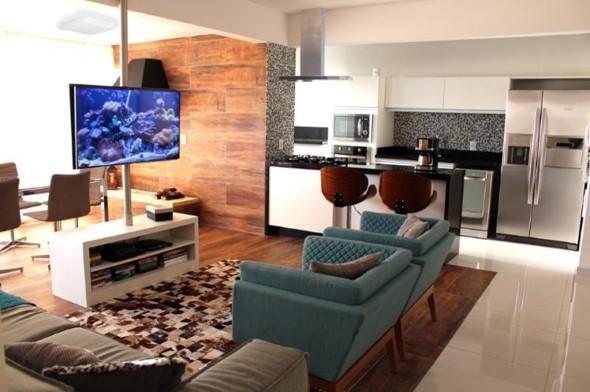 Decoração com TVs espalhadas pela casa 012