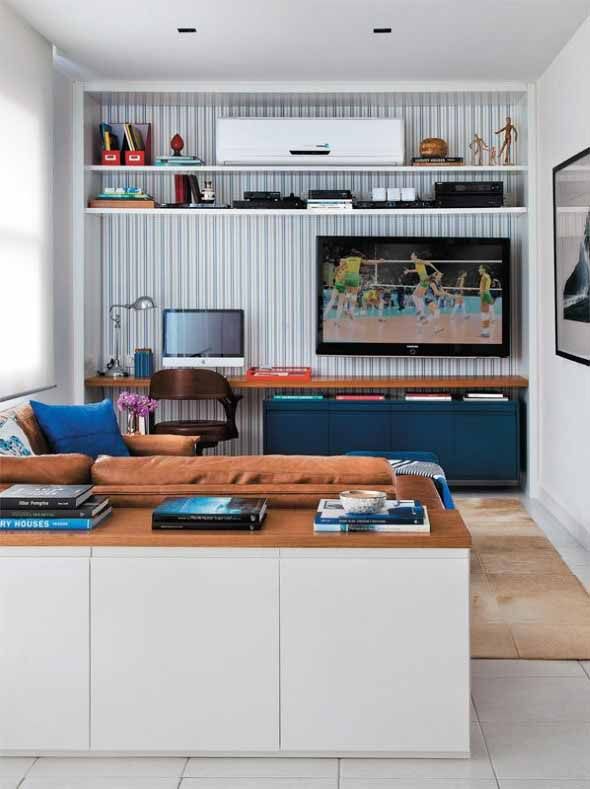 Decoração com TVs espalhadas pela casa 015