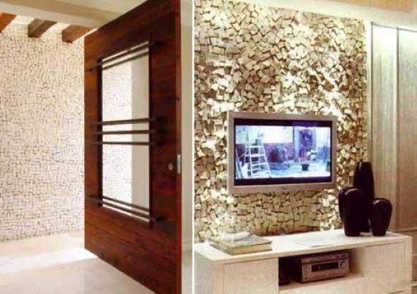 Decoração com TVs espalhadas pela casa 020