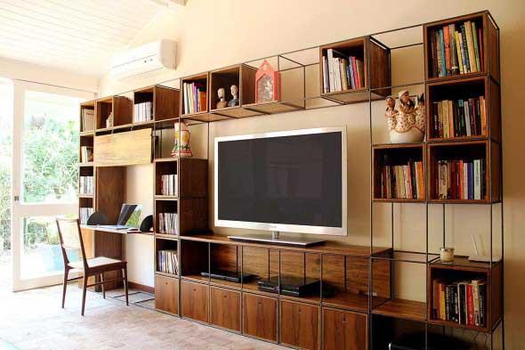 Decoração com TVs espalhadas pela casa 021