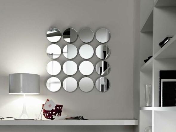Decorar a casa com espelhos redondos 002