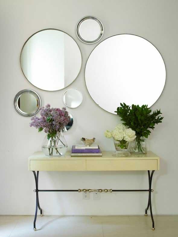Decorar a casa com espelhos redondos 003