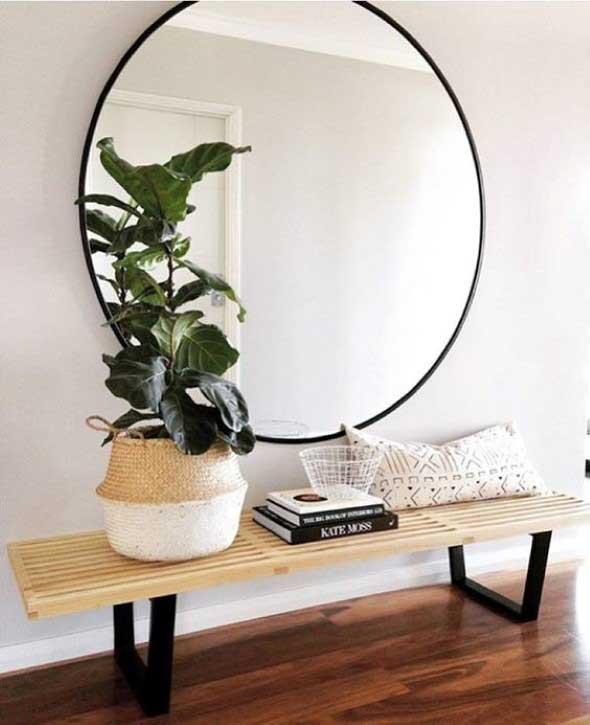 Decorar a casa com espelhos redondos 004