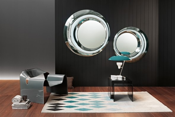 Decorar a casa com espelhos redondos 010