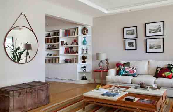 Decorar a casa com espelhos redondos 013