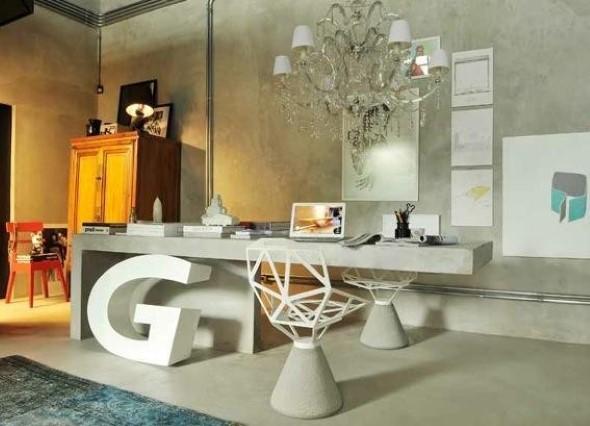 Móveis feitos de concreto em casa 004