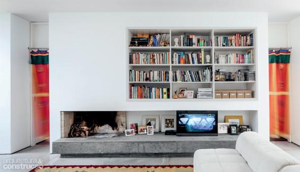 Móveis feitos de concreto em casa 006