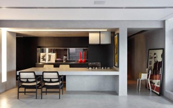 Móveis feitos de concreto em casa 011