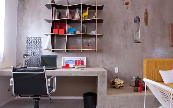 Móveis feitos de concreto em casa 018