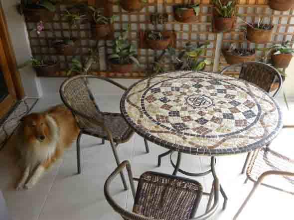 Mosaico na decoração de casa 004