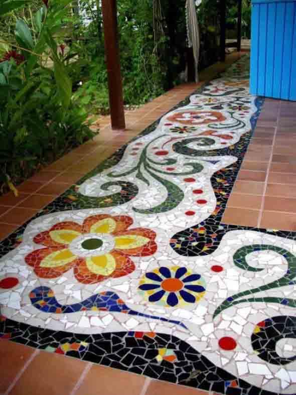 Mosaico na decoração de casa 006