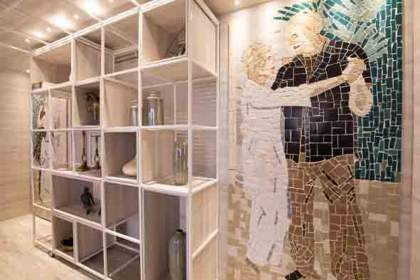 Mosaico na decoração de casa 016