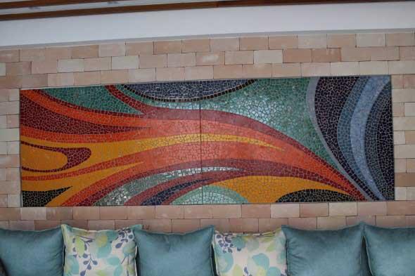 Mosaico na decoração de casa 019