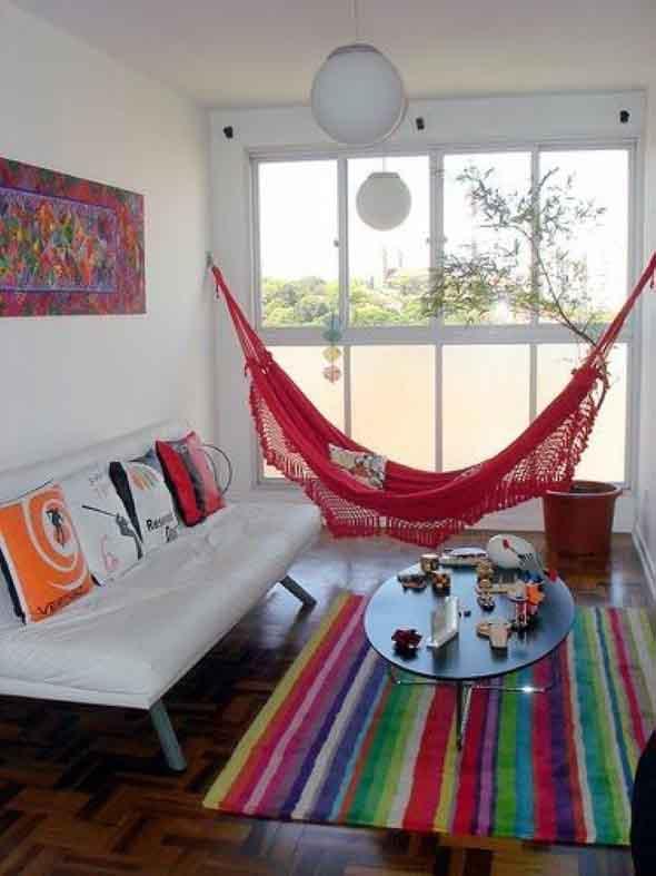 Rede para decorar a sala de estar 001