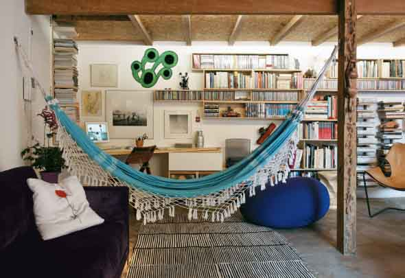 Rede para decorar a sala de estar 002