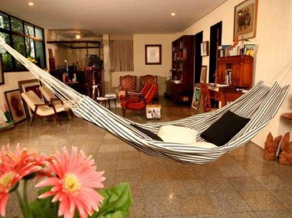 Rede para decorar a sala de estar 014
