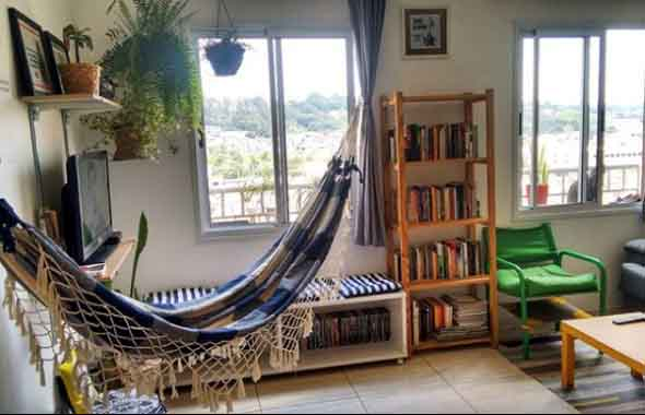 Rede para decorar a sala de estar 017