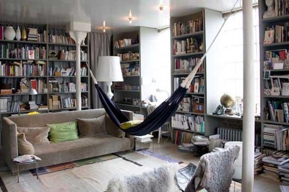 Rede para decorar a sala de estar 018