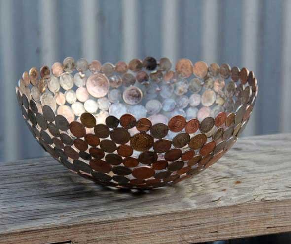 Reutilizar moedas na decoração 002