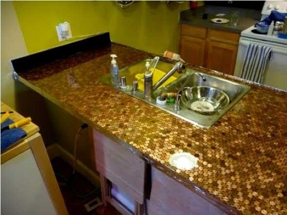 Reutilizar moedas na decoração 003