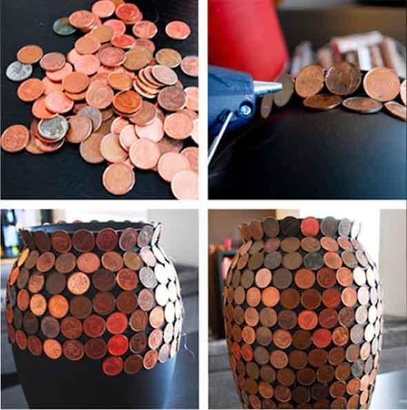 Reutilizar moedas na decoração 006