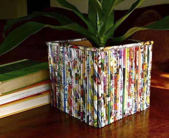 Vasos de plantas quadrados na decoração 010