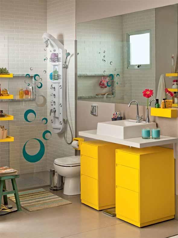 Banheiros coloridos 005