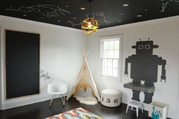 Decoração criativa no teto 001