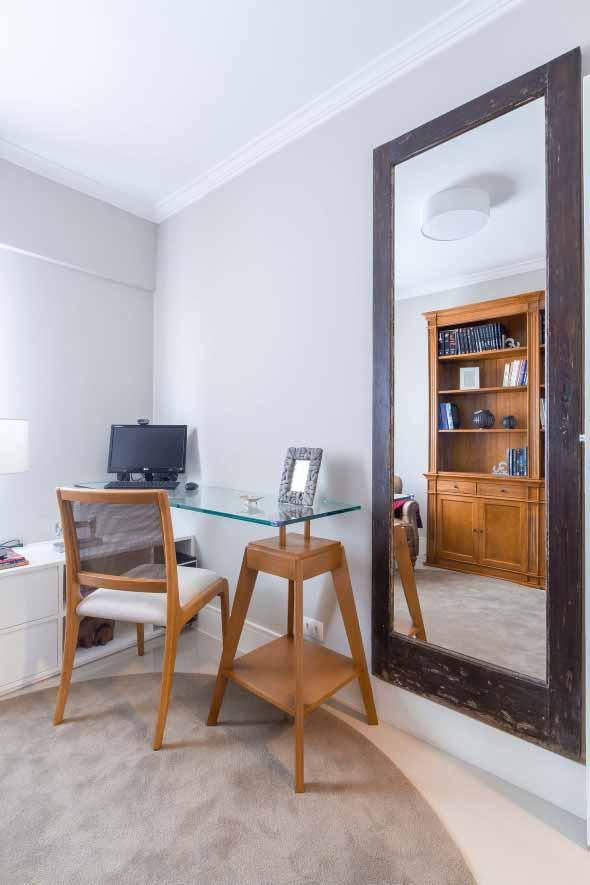 Espelhos na decoração do Home Office 001
