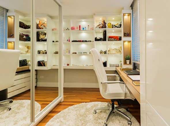 Espelhos na decoração do Home Office 005