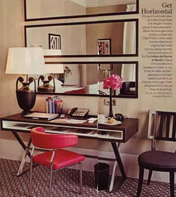 Espelhos na decoração do Home Office 006