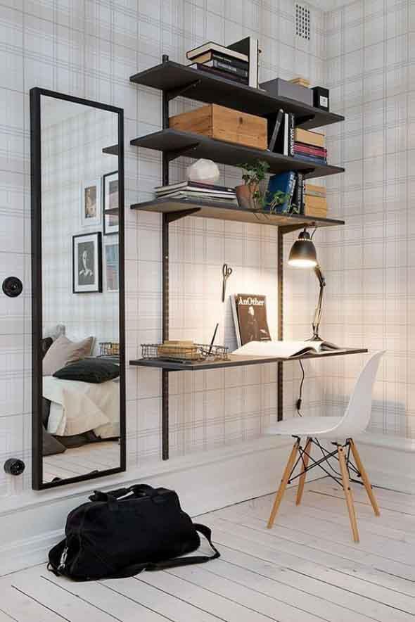 Espelhos na decoração do Home Office 007