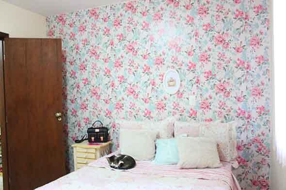 Papel de parede floral na decoração 004