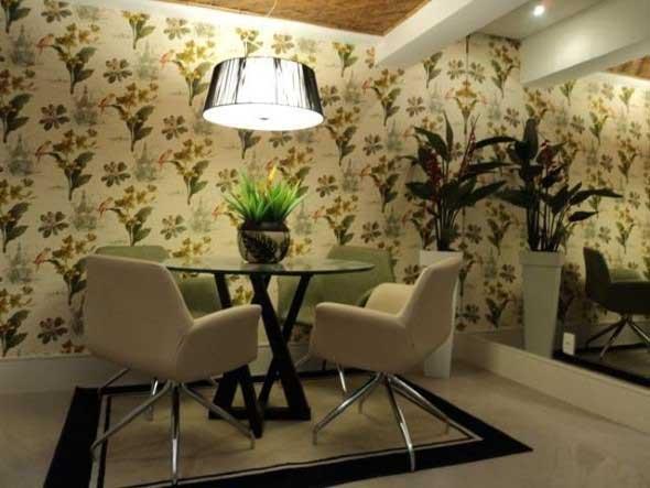 Papel de parede floral na decoração 008