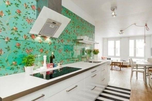 Papel de parede floral na decoração 012