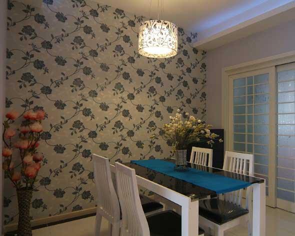 Papel de parede floral na decoração 019